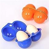 Rungao Portable œufs Boîte de rangement Conteneur randonnée Camping de transport pour 2œufs Coque