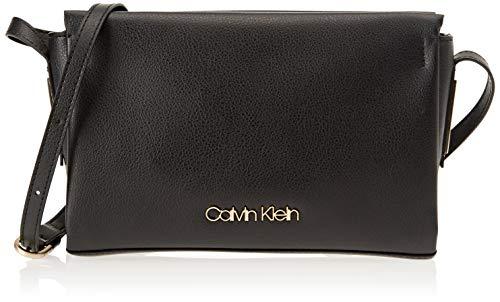 Calvin Klein Jeans Damen Frame Ew Crossbody Umhängetasche, Schwarz (Black), 6x16x25 cm