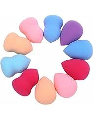 OVERMAL 10pcs Pro Beauty Makeup Flawless Blender Foundation Puff multi Shape Éponges Nouveau