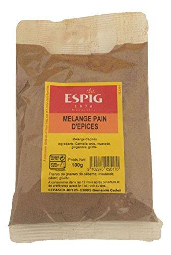 ⭐ESPIG Especias de Pan de Jengibre - 100 Gr. - Económico, Suculenta, Original, y Rico