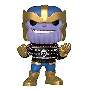 Funko Pop Bobble Vinyle Marvel: Holiday-Thanos Figura Coleccionable, (43336)