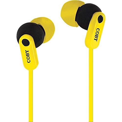 Coby cv-e108ylw meters-aggrovigliamento Splash auricolari stereo CVE108giallo