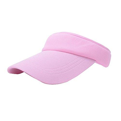 Chapeau de soleil Crème solaire été Sports de plein air casquettes de baseball cap de tennis chapeau visière Vide chapeau Pink