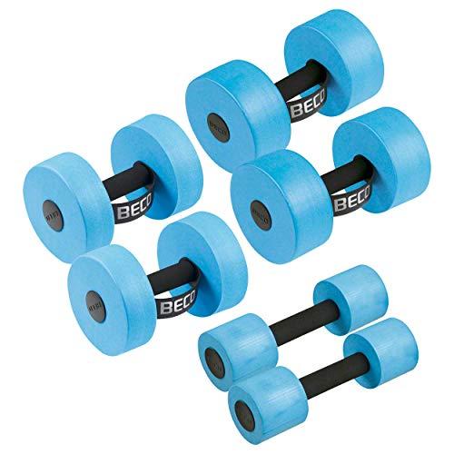 Beco AquaHantel Aquahanteln Aquajogging-Hanteln Aquafitness-Hanteln Set 6-TLG, je 1 Paar Größe S, M, L -