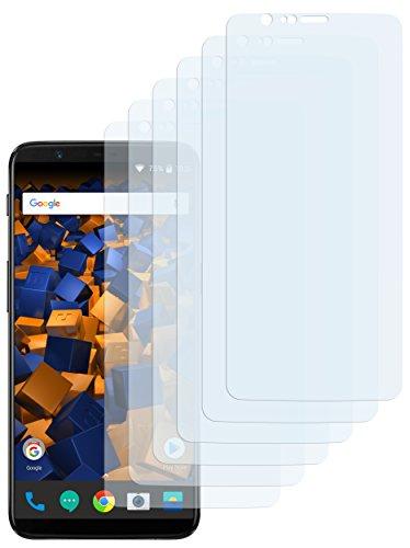 mumbi Schutzfolie kompatibel mit OnePlus 5T Folie klar, Displayschutzfolie (6x)