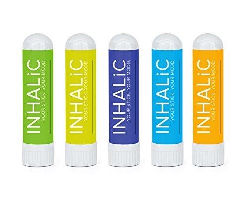Aromatherapie Set von INHALiC | 5er Pack Inhalierstifte für unterwegs | Naturreine Duftkombinationen für jedes Bedürfnis | Schöne Geschenkideen