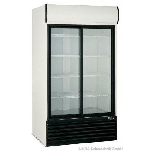 KBS Glastürkühlschrank KBS 1250 GDU - mit 2 Schiebetüren (Schiebetüren 2 Kühlschrank Mit)