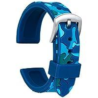 Ullchro Cinturini Orologi Impermeabile Orologi Bracciale Camuffare Donna Uomo - 18, 20, 22, 24mm Gomma Cinturino…