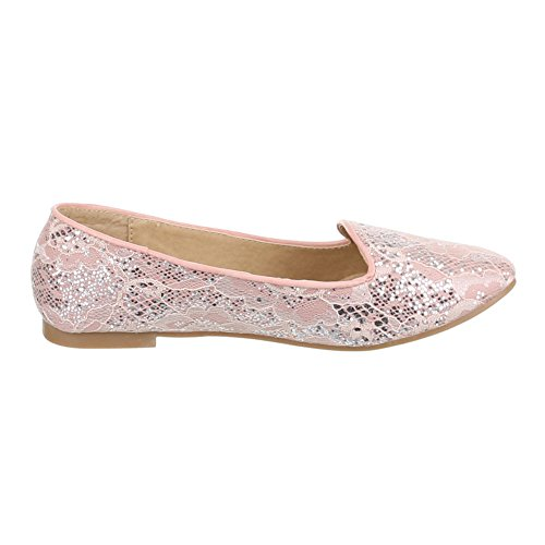 Ital Design Classico Ballerine Scarpe Da Donna Ballerine Classiche Block Heel Block Heel Ballerinas Pink