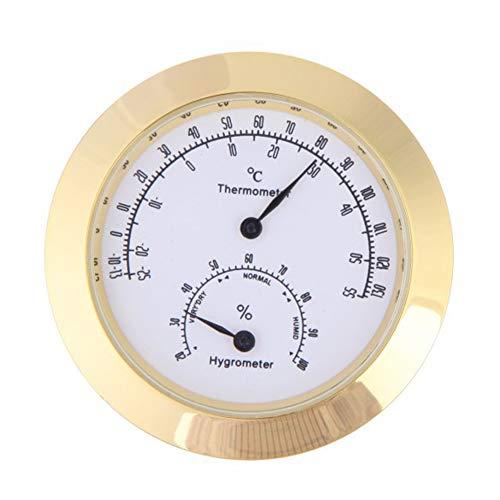 Starry sky Thermometer, Violine, Gitarre Zubehör, Hygrometer, Edelstahl-Legierung Bewegung, Gold