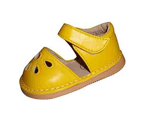 Ohmais Enfants Chaussure bebe fille premier pas Chaussure premier pas bébé sandale en cuir souple Jaune