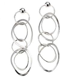 Zeeme Silver - 213220051 - Boucles d'Oreilles Femme - Argent 925/1000 - Cercle