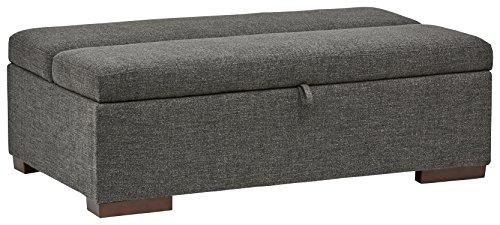 Marchio amazon -rivet, ottomana a divano-letto, stile moderno, larghezza 122 cm, colore grigio scuro