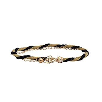SRI Designer Womens Causal,Party Wear Waist Metal Chain Belt (Black Golden)