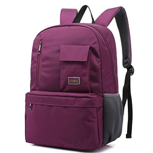 F@Herren-Rucksack 15,6 Zoll Laptop-Tasche und weise beiläufige weibliche Studenten Tasche Purple