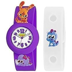 Moshi Monsters Armbanduhr Mit Anhängern Katsuma Kinder Vilolett & Weiß Austauschbar