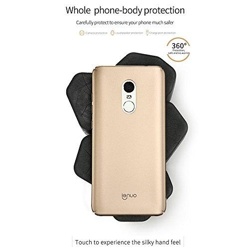 PC Ultra-Thin Impact Protection Case für Lenuo Xiaomi Redmi Hinweis 4 by diebelleu ( Color : Blue ) Gold