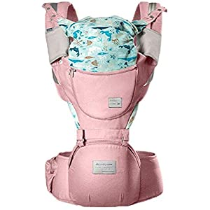 YZ Baby Carrier, Multi-Functional Baby Four Seasons Universal Strap, Recommended 3-36 Months Baby Use,Pink   3