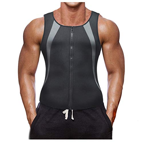 QinMMROPA Faja Reductora Adelgazante Hombre Camiseta