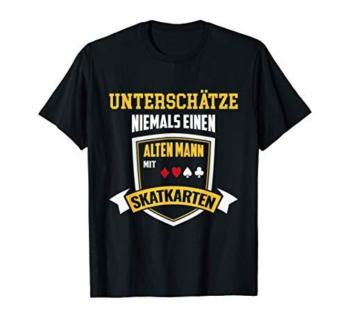Herren T-Shirt Skat - Skatspiel alter Mann Skatspieler Spruch