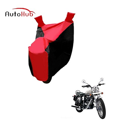 Auto Hub Premium Black/Red Two Wheeler Body Cover For Royal Enfield Bullet Electra  available at amazon for Rs.275