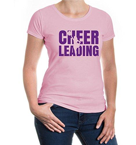 buXsbaum® Girlie T-Shirt Cheerleading Type Lightpink-Purple