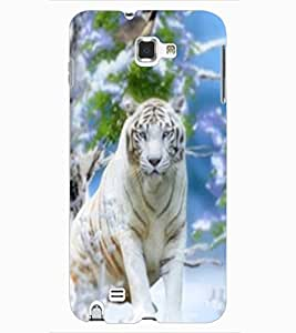ColourCraft White Tiger Design Back Case Cover for SAMSUNG GALAXY NOTE 1