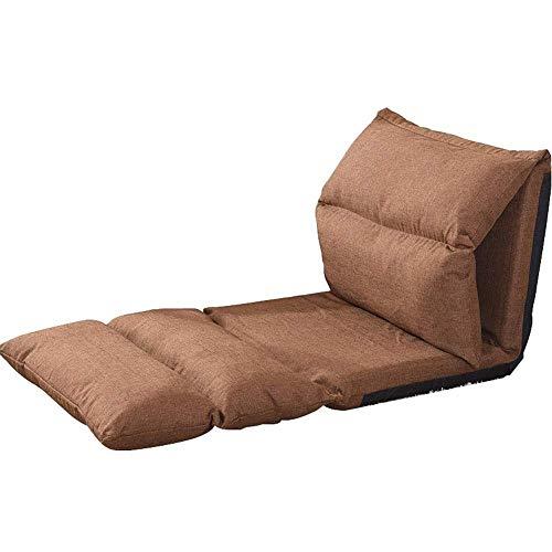 CMmin Lazy Sofa Faltbare Bodenkissen-Bettdecke - Verwendung als Schlafmatte, tragbare Kinderbett-Alternative for Übernachtungen, Reisen, Nickerchen oder als Liege zum Lesen, Spielen (Color : Brown)