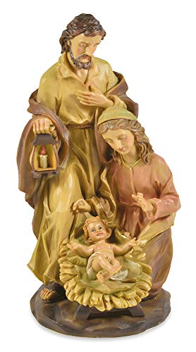 Riffelmacher Krippenblock Barock gebeizt - 30cm - Polyresin Weihnachtskrippe Jesus Geburt...
