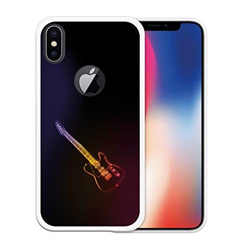 iPhone X Hülle, WoowCase Handyhülle Silikon für [ iPhone X ] Alien Warning Handytasche Handy Cover Case Schutzhülle Flexible TPU - Transparent Housse Gel iPhone X Transparent D0028