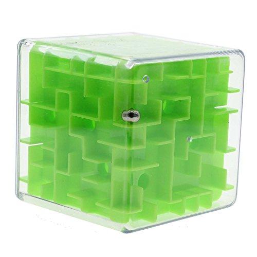 Mmrm Magische Labyrinth 3d Magischer Würfel Labyrinth juquetes Puzzle-Spiel für Kinder Erwachsene grün