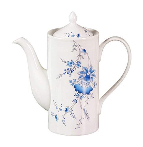 Ufengke-ts Fleurs Porcelaine Théière en céramique Pot de café avec couvercle pour Perfect Gift-20oz