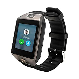 ESTAR Bluetooth Smartwatch with SIM Card Support   Micro SD card Support   Facebook   Whatsapp   Activity Tracker   Fitness Band   Music   Camera with Video Recording   Better Display   Loud Speaker   Microphone   Touch Screen   Multi-Language Compatible with Micromax Canvas Fire 4G Plus and All Other Smartphones - SILVER Oppo F1