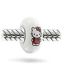 """Sexy Sparkles """"Hello Kitty de color blanco cristal encanto de la mujer"""