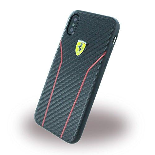 Image of Ferrari FESCAHCPXBK CG Mobile Handyhülle für Apple iPhone X schwarz/rot Stripe