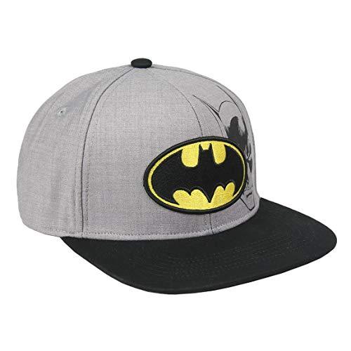 Artesania Cerda Gorra Visera Plana Logo Batman, Gris (Gris Gris), M (Tamaño del fabricante:56) para Niños