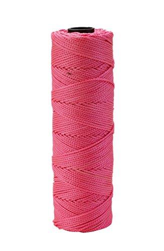 Gegenseitige Industries 14662–175–250Nylon Mason Bindfäden, 1/4lb. geflochten, 18x 250', Glo Pink (Pack Of 6) (Mason Bindfäden)