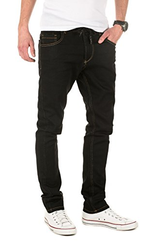 Yazubi Uomo Designer Sweatpants in Jeans-Look Erik - Slim Fit - Pantaloni sportivi black (30001)