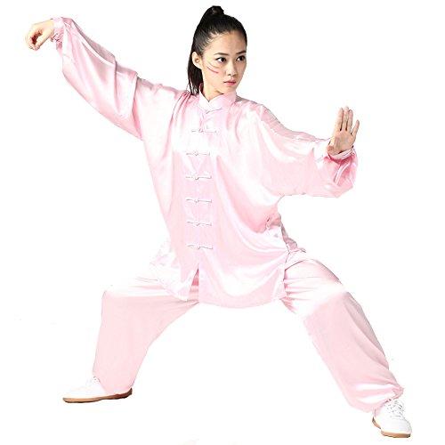 ZooBoo Tai-Chi Uniform Anzug Unisex - Chinesische Kampfkunst Tai Chi Wushu Wing Chun Shaolin Kung Fu Training Kleidung Lange Ärmel für Damen Herren Anfänger Trainer - Südkoreanische Seide (Seide Chinesisches Kung Fu Kleidung)