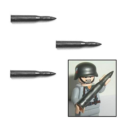 3X 88mm Flak / Pak Munition WW2 - Custom Soldaten Zubehör für Lego Figuren