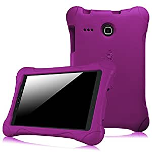 Fintie Samsung Galaxy Tab E 8.0 Kiddie Case - Ultra Light Weight Shock Proof Kids Friendly Cover for Samsung Galaxy Tab E 8-Inch 4G LTE SM-T377 Tablet, Purple