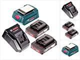 Bosch USB Power Set 18 V mit GAA Professional USB Adapter für 14,4 V / 18 V Akkus + 2x GBA 18V 2,0 Ah Li-Ion Einschub Akku + 1x Schnell Ladegerät AL 1820 CV
