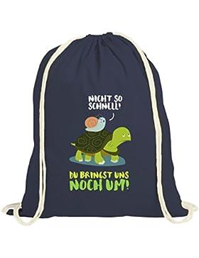 Turtle natur Turnbeutel mit Turbo Schildkröte Motiv von ShirtStreet