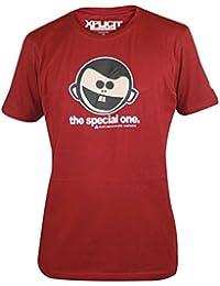 Mens Xplicit SPECIAL One Funny Rude Novelty Slogan Tshirt Claret M