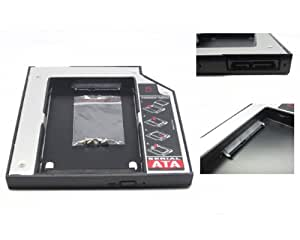 NEW SATA 2nd HDD caddy For 12.7mm Universal CD/DVD-ROM(Extend your data storage on your Laptop with HDD/SSD)