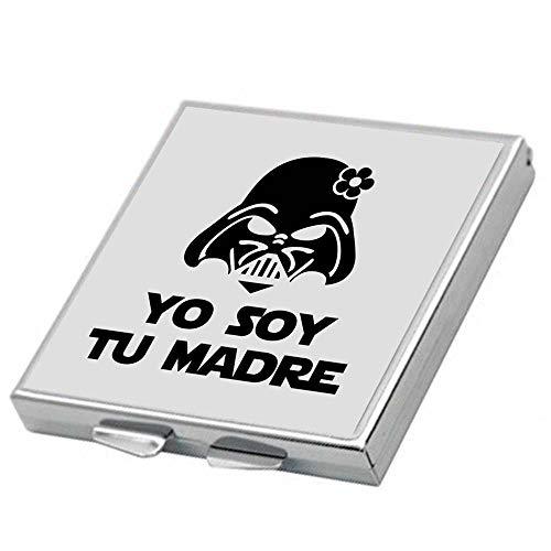 Espejo Yo Soy tu Madre. Parodia Star Wars - Death Star. Regalo San Valentín, día de la Madre, cumpleaños, Aniversario. Espejo de Bolso. Espejo Friki.