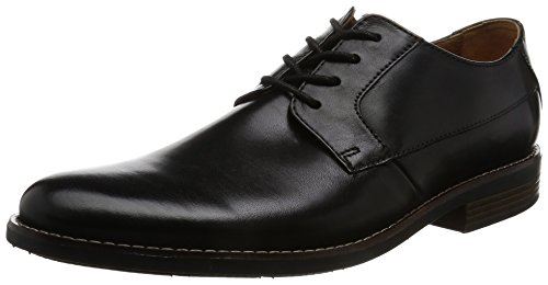 Clarks Becken Plain, Scarpe Stringate Derby Uomo Nero (Black Leather -)