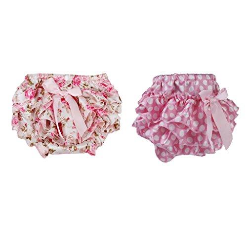 IPOTCH 2x Falda Floral con Volantes Pañal de Bebé Accesorio de Regalo...