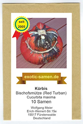 Speisekürbis - Bischofsmütze - Red Turban - 10 Samen