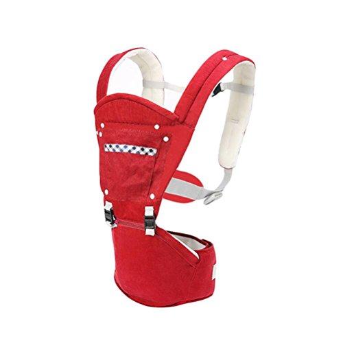 Baby Carrier 3D Breathable Hip Sitzträger Ergonomisches Design Variety Carry Ways mit abnehmbarem Sitzgurt verstellbare Neugeborene Portable Multifunktions Rucksackträger 3,5 ~ 20KG , B (Ergobaby Wrap Carrier Baby)